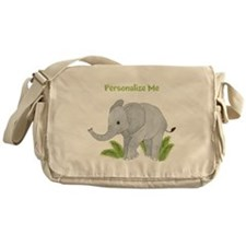 Personalized Elephant Messenger Bag