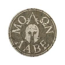 """Molon Labe, Come and Take Them 3.5"""" Button"""