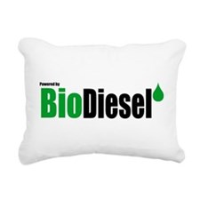 Powered By BioDiesel Rectangular Canvas Pillow