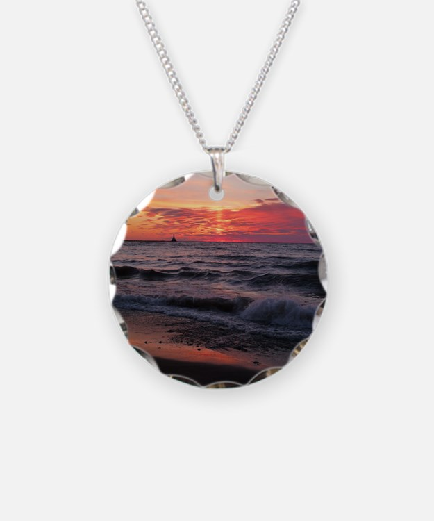 Sunset with waves Necklace