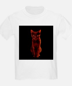 Halloween Black Cat Kids T-Shirt