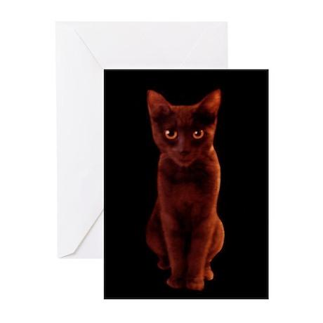Halloween Black Cat Greeting Cards (6)