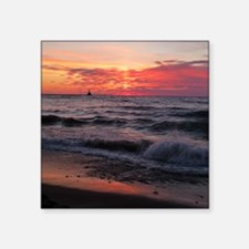 Sunset with waves Sticker