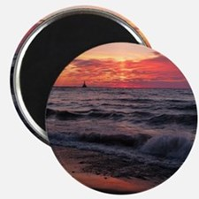 Sunset with waves Magnets