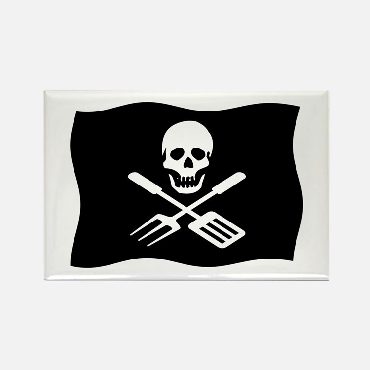 Grill Pirate Rectangle Magnet