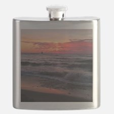 Sunset with waves Flask