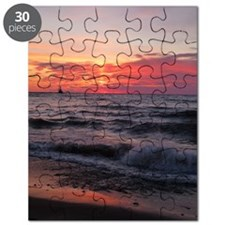 Sunset with waves Puzzle
