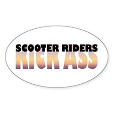 Scooter Riders Kick Ass Oval Decal