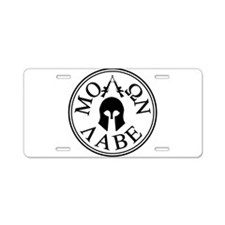 Molon Labe, Come and Take Them Aluminum License Pl