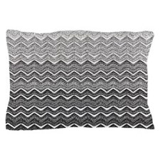 Gray Ombre Chevron Pillow Case