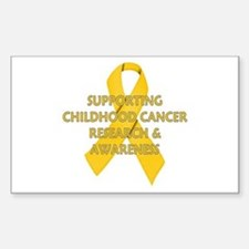 ...Childhood Cancer... Rectangle Bumper Stickers