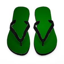 Hunter Green gradient Flip Flops