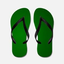Hunter Green gradient Flip Flops