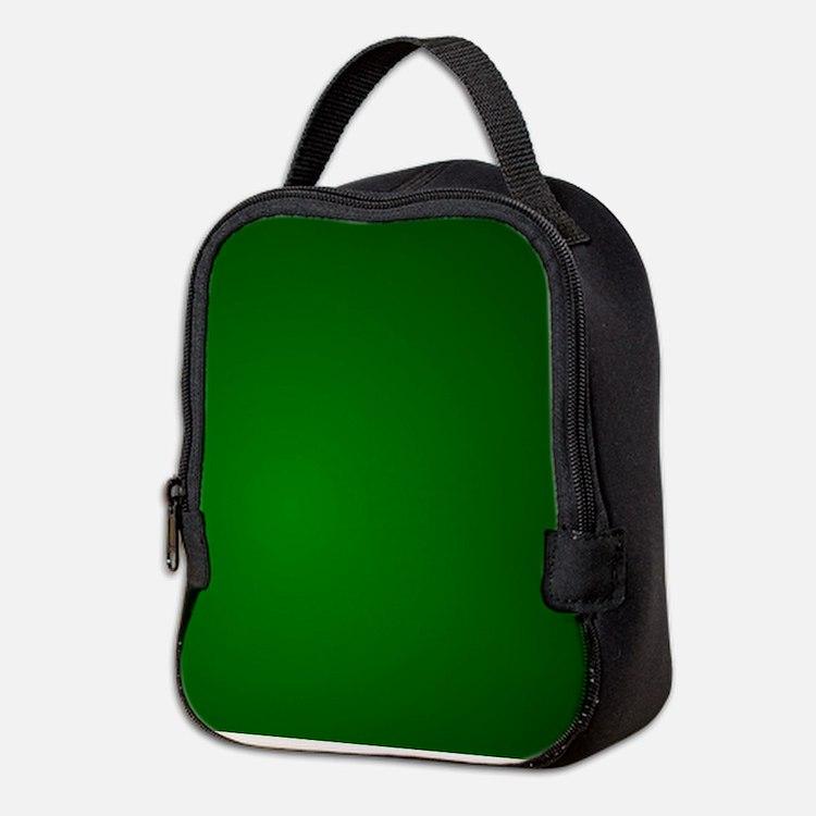 Hunter Green gradient Neoprene Lunch Bag