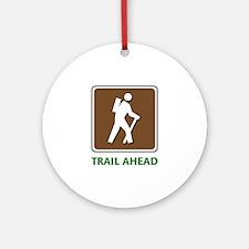 Hike Train Ahead Ornament (Round)