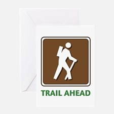 Hike Train Ahead Greeting Cards