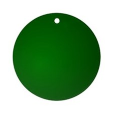Hunter Green gradient Ornament (Round)