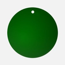 Hunter Green gradient Ornament (Round)