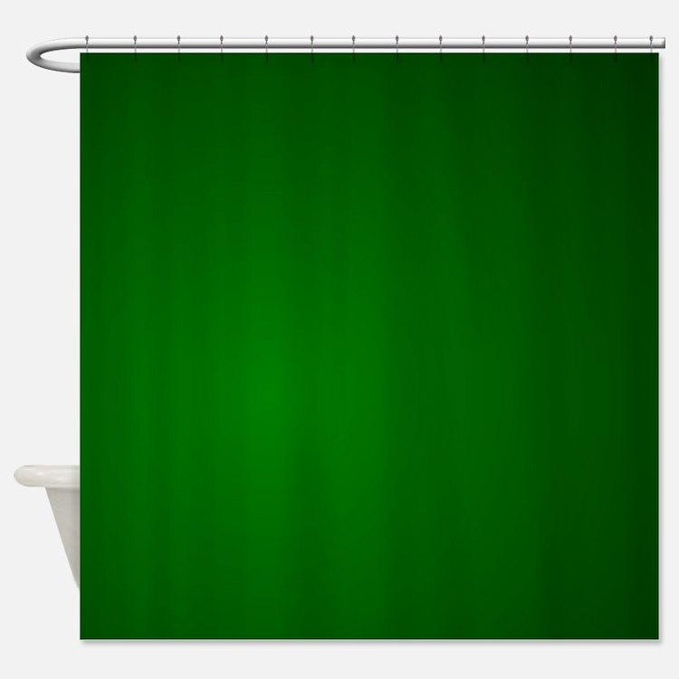 Plain Green Shower Curtains