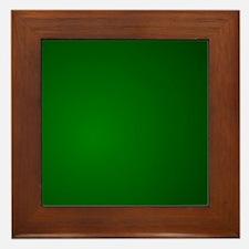 Hunter Green gradient Framed Tile