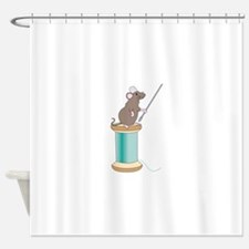 Sewing Mouse Shower Curtain