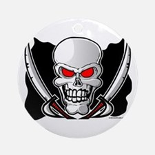 Pirate Flag - Jolly Roger Round Ornament