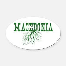 Macedonia Roots Oval Car Magnet