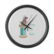 Born To Sew Large Wall Clock