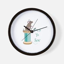 Born To Sew Wall Clock