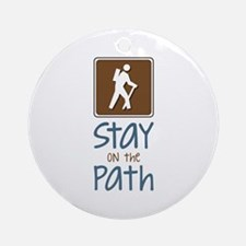 Hike On Path Ornament (Round)