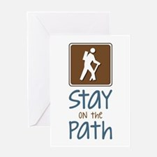 Hike On Path Greeting Cards