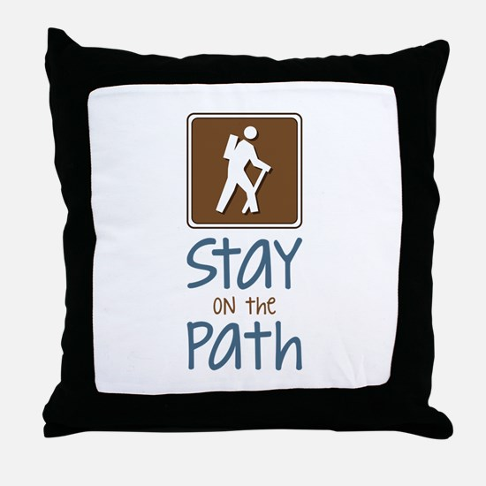 Hike On Path Throw Pillow