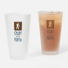 Hike On Path Drinking Glass