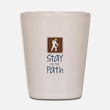 Hike On Path Shot Glass