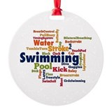 Swimming Round Ornament