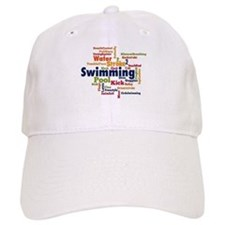 Swimming Word Cloud Baseball Baseball Baseball Cap
