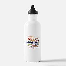 Swimming Word Cloud Water Bottle