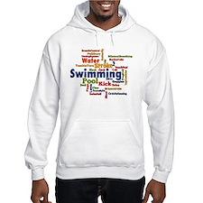 Swimming Word Cloud Hoodie