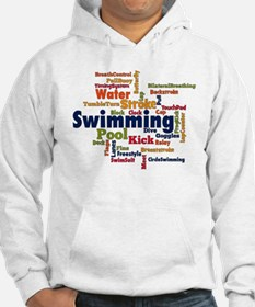 Swimming Word Cloud Hoodie