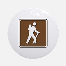 Hiker Ornament (Round)