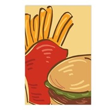 Hamburger and Fries Postcards (Package of 8)