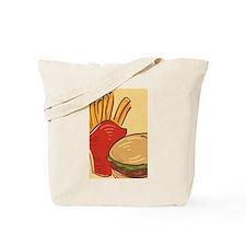 Hamburger and Fries Tote Bag