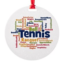 Tennis Word Cloud Ornament