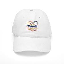 Tennis Word Cloud Baseball Cap