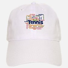 Tennis Word Cloud Baseball Cap
