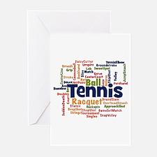 Tennis Word Cloud Greeting Cards
