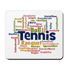 Tennis Word Cloud Mousepad