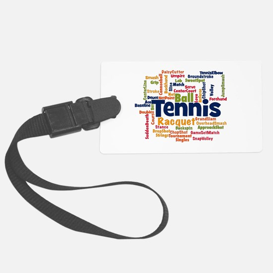 Tennis Word Cloud Luggage Tag