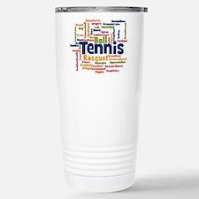 Tennis Word Cloud Travel Mug