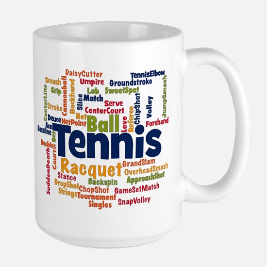 Tennis Word Cloud Mugs